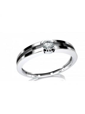 Anillo compromiso con diamantes