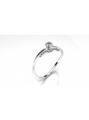 Anillo pedida con diamante