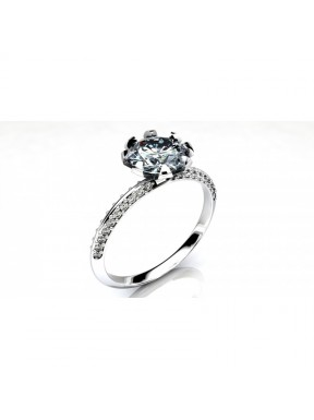 Anillo pedida con diamantes