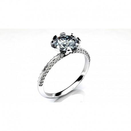 Anillo pedida con diamantes